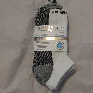 Copper fit 3pk ankle socks